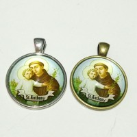 liontin medali rosario santo Antonius Padua