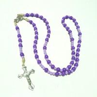 rosario akrilik 6 mm handmade ungu