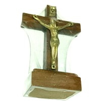 salib duduk meja kayu mini