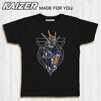 KAIZER RH-0313 Kaos Gundam Model - Anime - Hitam, S