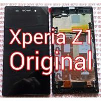 Original LCD plus TouchScreen plus Frame Depan - Sony Xperia Z1 Big