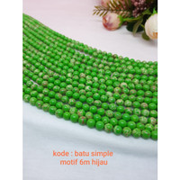 Batu simple Motif 6m Hijau / Beads Simple 6m