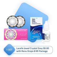 Lacelle Jewel Crystal Grey 00.00 with Renu Drops 8 Ml Package