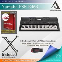 Keyboard Yamaha PSR E463 + Stand / PSRE463 / PSR E 463 Garansi Resmi
