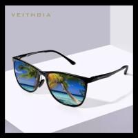 Kacamata pria Sunglasses Original Veithdia 6623 Polarized lensa blue