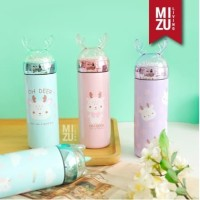 Termos Anak Unicorn Snow Globe 330ml Thermos Botol Air Minum UNIDEER