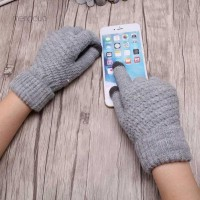 Meng Sarung Tangan Rajut Hangat Full Finger Touch Screen untuk Wanita