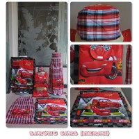 Sarung Anak Cars Merah