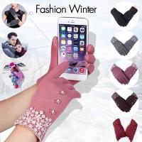 Meng Sarung Tangan Wanita Model Sport Touch Screen Hangat untuk