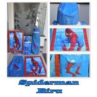 Sarung Anak Instant Spiderman Biru