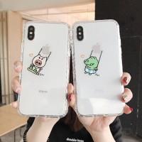 Jepang Dan Korea Kartun Babi Iphone Xs Max7 8 6 S Plus Pelindung