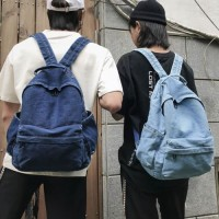 BST Vintage Denim Backpack School College Daypack Travel Rucksack for