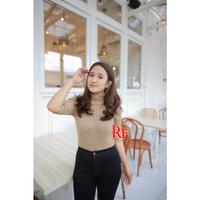 beybi turtleneck / sweater rajut / atasan rajut wanita / baju korea / - MOCCA