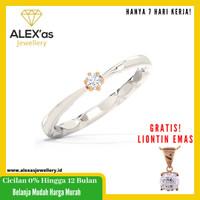 cincin berlian solitare ayu ring natural diamond emas 18k 7 hari Fvvs