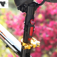 Lampu Sepeda 5 LED Taillight Rechargeable keren