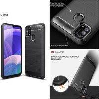 Casing Softcase Carbon Samsung Galaxy M31 Soft Back Case