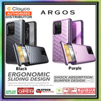 Samsung Galaxy S20 Ultra Case CLAYCO ARGOS Wallet (Sliding Design) - S20 Ultra, Black