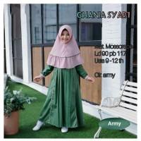 Baju Muslim Gamis Anak Syari Set Ghania Usia 9-12 tahun