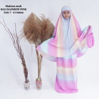 Mukena anak Bali Pelangi Abu-abu