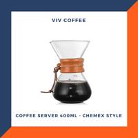 Coffee Maker Server Kopi 400ml - Chemex Style