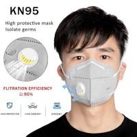 Masker KN95 Folding Anti Dust Respirator Face Mask Filter THSH