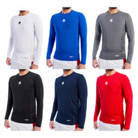 BASELAYER LONG SLEEVE MILLS 11001 WHITE, ROYAL, CHARCOAL, BLACK, NAVY