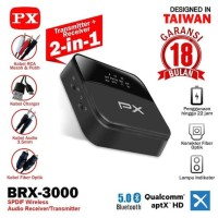 PX Receiver Bluetooth Transmitter Audio 5.0 HD Stereo 2in1 PX BRX-3000