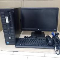 CPU HP PRODESK CORE I5 4590- RAM 4GB-HDD 500GB-LCD HP 19 INCH WIDE