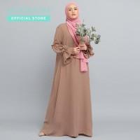 MOOIMOM Dress Muslim with Ruffles Sleeve - Dress Muslim Hamil Menyusui