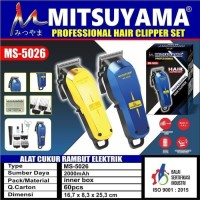 Alat Cukur - Mesin Cukur Charger - Hair Clipper Mitsuyama MS-5026