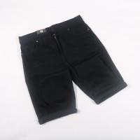 celana jeans pendek pria model skinny/ripped cowok
