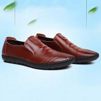 Techdoo Sepatu Pantofel Pria Sepatu Kulit Formal untuk Kerja MC403