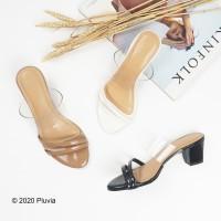 Pluvia - QORINA Chunky Heels Mika Transparant