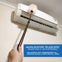 Polidor Telescopic, kemoceng bulu domba - Putih