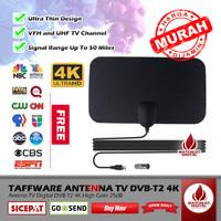 Taffware Antenna - Antena TV Digital DVB-T2 4K High Gain 25dB