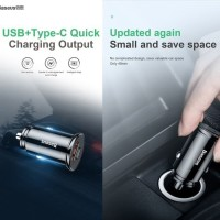 BASEUS CAR CHARGER MOBIL QUICK CHARGE 4.0 3.0 PD POWER DELIVERY