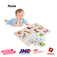 MY Wooden Peg Puzzle Baby Children Educational Toy