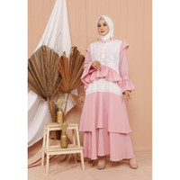 Hijab Ellysha EXCLUSIVE MOANA EMBROIDERY TRIPPLE DRESS