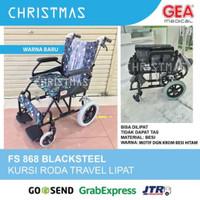 Kursi Roda Travel GEA FS 868 Black Steel / Kursi Roda Lipat GEA FS868