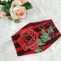 Masker Batik Hias Bordir   Masker fashion cantik Yogyakarta