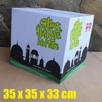 Kardus Box Kotak Bingkisan Parcel Lebaran Idul Fitri putih 35X35X33CM