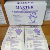 Sarung Tangan Steril/ Hand Scoon Merek MAXTER No.8 per box