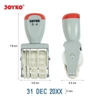 Joyko Stamp Date D-4 Ukuran 3mm Stempel Cap Tanggal Bulan Tahun D4