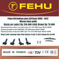 Paket Ok bohlam Fehu plus LED Rush 2006-2012. Warna Sinar putih