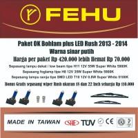Paket Ok bohlam Fehu plus LED untuk Toyota Rush 2013 2014 Sinar putih