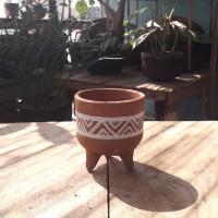 Pot gerabah kaktus dan sukulen mini tradisional kuno etnik