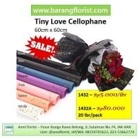 Tiny Love Cellophane (1432A) 20 lbr/pack, aksesoris bunga, kertas