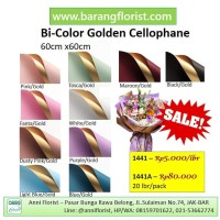 Bi-Color Golden Cellophane (1441) 1 lbr, Aksesoris bunga, kertas bunga