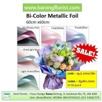 Bi-Color Metallic Foil (1448) 1 lbr, aksesoris bunga, kertas bunga