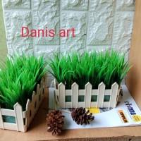 Rumput pagar set/ Rumput plastik/ Rumput palsu/ rumput artificial